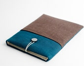 Macbook Retina sleeve, Macbook 13 sleeve, teal, with pocket