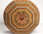 Pouf Ottoman- Pouf- Footstool- Round Ottoman- Southwestern- by beckyzimmdesign