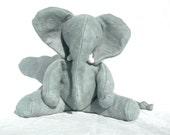 Organic Baby African Elephant, Stuffed Animal, Soft Toy, GOTS Organic Cotton