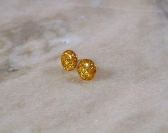Sparkle Resin Dot Earrings