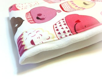 Cupcake Burp Cloth for Baby Girl, OOP Designer Fabric, Limited, Baby Shower Gift, Stocking Stuffer