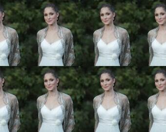Bridesmaids Shrugs. Wedding Wrap Shawls. Set Of 8 Lace Cover Ups with 4 Wearing Ways- Shrug, Shawl, Twist Shawl Or Scarf. Bridesmaids Shawls