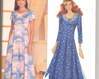 1990's Women's Dress Pattern, Butterick 6575 Sewing Pattern, Size 12-16