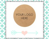 Custom Logo Stickers / Brown Kraft Labels - For Marketing / Logo Stickers - For Business / Your Logo Here