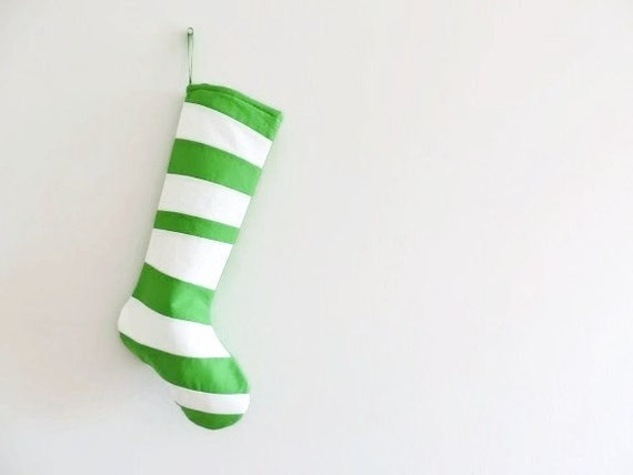 Grinch Green Personalized Christmas Stocking Personalized Stocking Kids Family Stockings Modern Striped Boy Girl Holiday Decoration Dr Seuss