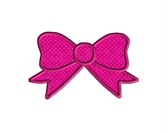 Bow Machine Embroidery Applique Design-INSTANT DOWNLOAD