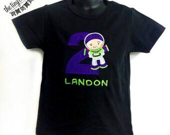 Personalized Buzz Lightyear Toy Story Birthday Shirt