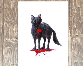 For You - Love Wolf 8x10 Archival Print
