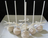 Wedding Favors: Premium Wedding Cake Pops Made to Order with High Quality Ingredients