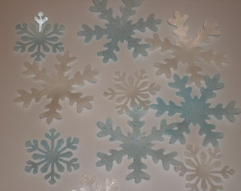 Wafer Rice Paper Snowflakes for Cakes, Cookies, Cupcakes and Cake Pops Cake Toppers