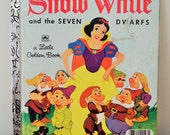 Vintage A Little Golden Book - Disney's Snow White