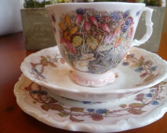 Royal Doulton Brambly Hedge Autumn Trio, cup, saucer and plate - full size