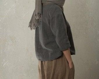 LINEN / WOOL blouse