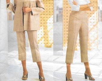 Vogue 2258 Misses' Loose Fitting Below the Hip Jacket, And Capri Pants, Designed By Michael Kors, Sizes 12, 14, 16, UNCUT
