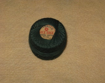 Vintage Green Darning Cotton Thread Mending, Hand Sewing, Embroidery American Thread