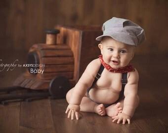 Train Conductor Outfit, Boys Cake Smash, Train Photo Prop, Train Engineer, Train Outfit, Train Engineer Outfit, Boys Photo Outfit, Baby Boy