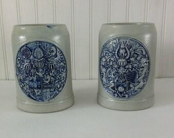 stoneware- stein , german stein-salt glaze mug-beer mug- man cave- renaissance-beer stein