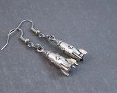 Rocket Earrings - Spaceship Earrings - Science Jewelry - Rocket Jewelry - Science Earrings - Space Earrings - Outer Space Earrings