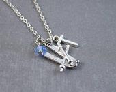 Ski Necklace - Ski Jewelry - Winter Necklace - Snow Necklace - Personalized Necklace - Winter Jewelry - Olympic Necklace - Sports Jewelry