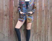 Eclectic Vintage Egyptian Art Deco & Bohemian Style Oversized Blazer