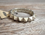 Reserved Listing - Silver and Gold Spike Bracelets