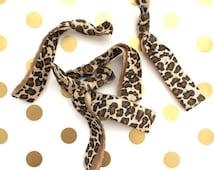 Tan cheetah print hair tie (one tie), leopard hair tie, party favor, bachelorette, wedding, shower favor, animal print party favor, birthday