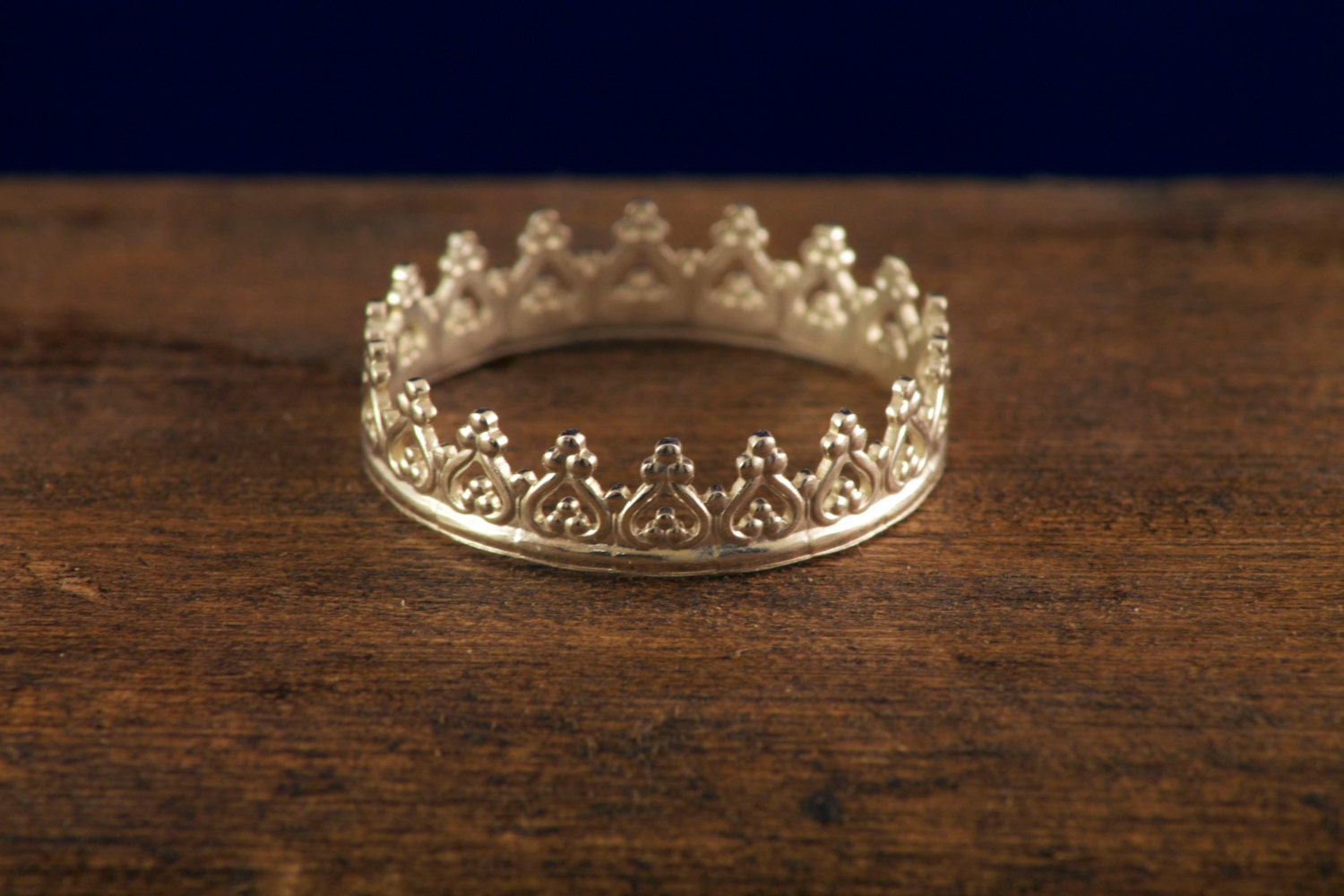 sterling silver crown stacking ring