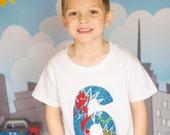 Spiderman Birthday Shirt, Boys Birthday Shirt, Spiderman Birthday, Superhero Birthday Shirt,