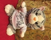 Soft Kitty toy Fluffy Cat with Personalised Name or message