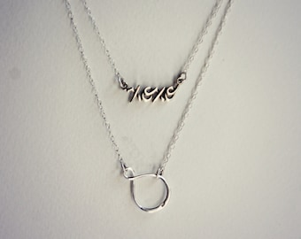 infinity and xoxo necklaces in sterling silver, layer necklaces, love necklace, romantic necklace, necklace set