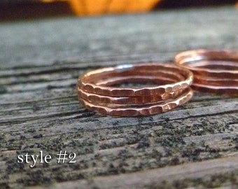 Copper Stacking Rings - Set of 3
