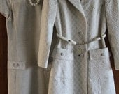 Vintage BETTY ROSE Linen Suit Dress and Matching Jacket, 1960s