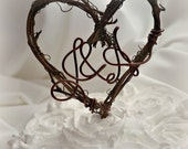 Twig Cake Topper With Initials