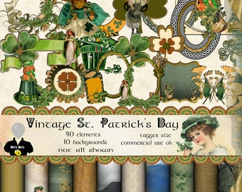 Vintage St. Patrick's Day Digital Scrapbook