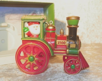 "Hallmark ""Santa's Express""  Ornament 1980 In Original Box ~ Tree Trimmer Collection Dated Ornament  VERY Collectible"