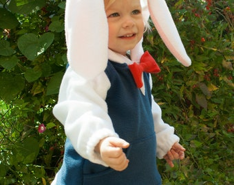 BABY & TODDLER White Rabbit Hoodie, Costume, Vest, Jacket, Hand-made, Cosplay, bunny