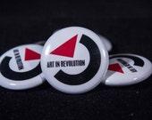 "Art In Revolution | Back to the Future | 1"" Button"