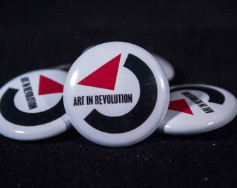 "Art In Revolution | Back to the Future | 1"" Button"