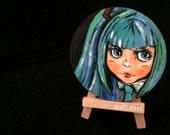 SALE - Hatsune Miku by aniO - Miniature Painting OOAK