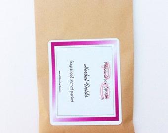 Scented Envelope Sachet Herbal Fields Botanical Drawer Liner Freshener Friend Gift for Her Cheap Kraft Rustic Decor Homemade Craft Fragrant