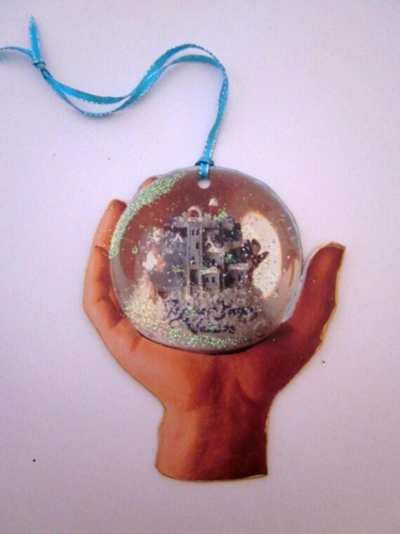 Christmas Ornament Addams Family Ornament Vintage Snow Globe