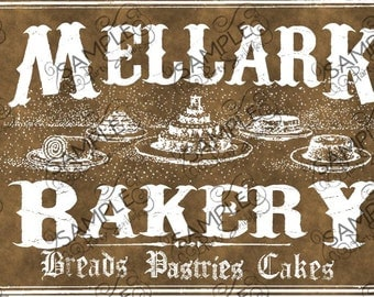 Mellark Bakery Bag Treat Topper Labels *INSTANT DOWNLOAD*