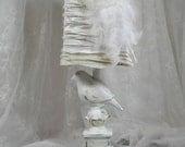 Bedroom Lamp Shabby Chic White Bird French Boudoir OOOOLALA
