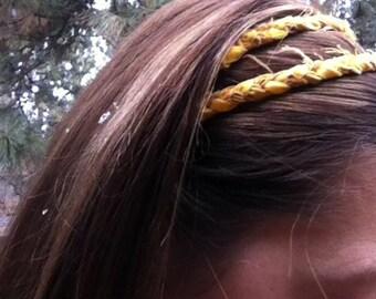 Child Fabric Braided Two Strand Headband