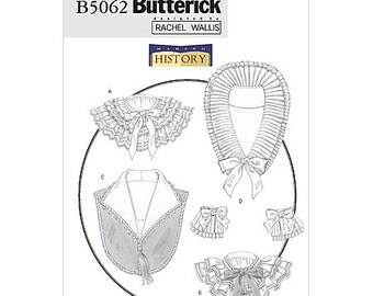 Butterick B5062 Sewing Pattern Historical Collars Cuffs Victorian Edwardian Downtown Abby Cosplay One Size Uncut