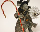 Victorian Christmas Mouse - Made To Order, Winter Mice Decorations
