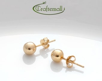Clearance: Yellow gold studs, 8mm gold earrings, gold stud earrings, minimal earrings, simple earrings, dainty earrings, pes008s-yv