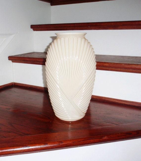 13 belgium art deco vase urn draped glass ribbed pleated - Deco vintage belgique ...