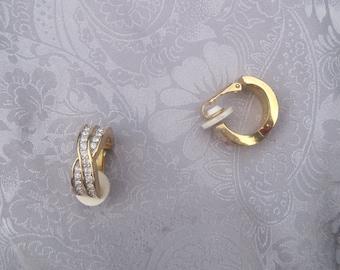 Swarovski Signed with Swan Crystal Earrings