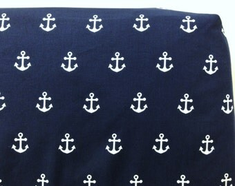 SHOP CLOSING SALE Navy Anchors Crib Sheet Free Shipping Ready to Ship Baby Toddler Bedding Nautical Blue Standard Size Gender Neutral Unisex